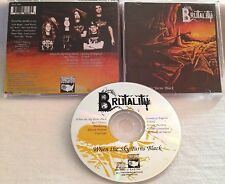 Brutality - When The Sky Turns Black CD OOP NBA 6883 2 immolation suffocation