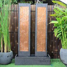 Twin Bamboo Tower Wall Fountain
