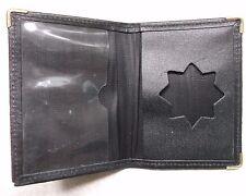 Wallet Vintage Leather SLIM CARD BLACK 1980s 1990s BUSINESS ID CREDIT DEBIT