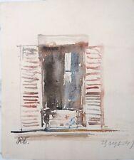 René Thomsen 1897-1976 aquarelle fenêtre ouverte