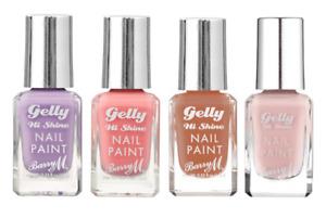 Barry M Gelly Hi Shine Gel Effect Nail Paint Polish Glossy Shades Finish Varnish
