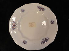 Antique White Copper Blue Luster Plate 12 Panelled