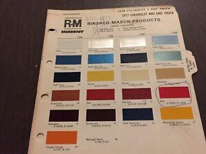 1977, CHEVROLET PICKUP,ELCAMINO,GMC, ,PAINT CHIPS CHART