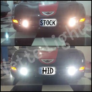 1997-2004 c5 Corvette 55w SUPER BRIGHT HID Fog Light Conversion Kit(Crisp White)