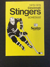 Vintage Cincinnati Stingers Hockey 1978-79 Pocket Schedule Original WHA