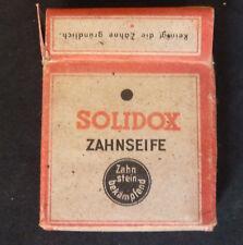 Dentifrice SOLIDOX original d'époque WW2, WEHRMACHT LANDSER Allemand Heer 1940