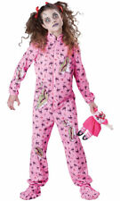 Morris Costumes Girls Classic Halloween Zombies Print Jumpsuit 10-12. IC18033MD