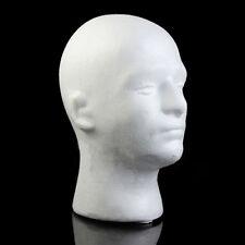 MALE MANNEQUIN STYROFOAM FOAM MANIKIN HEAD MODEL WIG HAT DISPLAY STAND LIBERAL