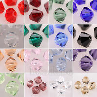 300pcs 5301 Bicone Austria Crystal Beads Charms Jewelry Making 4mm 6mm 8mm Pick