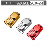 Aluminum Metal Front Rear Axle Cover Guard Pour Axial SCX24 1/24 RC JEEP Truck