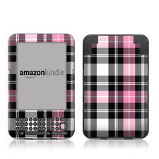 Kindle Keyboard Skin - Pink Plaid - Sticker Decal