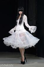 White Tulle Mesh Petticoat Skirt Gothic Lolita party Pentagramme J030067W