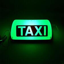 "11"" Taxi Cab Sign Roof Top 12V 5 LED Topper Car Super Bright Light Lamp Green"