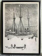 Ib Spang Olsen Framed Print - Arktis 1894.  Tegnet for Dansk Esso A/S - Danish