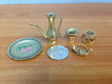 Lot of 5 Pieces Of Miniature Brass Dolls House Furniture - lot 9