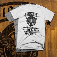 Sicario T-Shirt Drug Weed marijuana  Deadly Assassin Hitman New cotton tee