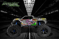 "TRAXXAS X-MAXX GRAPHICS WRAP DECALS ""TICKET TO RIDE"" GRAPHICS KIT FITS OEM BODY"