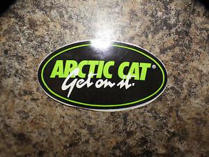 "Vintage NOS Arctic Cat Snowmobile "" Arctic Cat Get On It"" Decal /  Sticker"