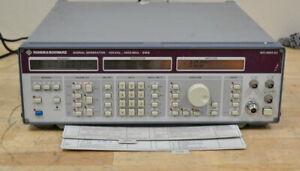 Rohde Schwarz SMG RF Signal Generator 100khz-1GHz