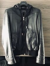 Dolce Gabbana - Leather Jacket - Authentic - Size 44 (SMALL)