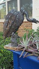 Vtg Brutalist Metal Bird Vulture Sculpture Mid-Century Modern