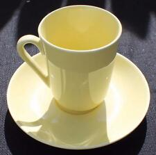 """Vintage ARABIA Made Finland Chartreuse Yellow 3 3/4""""h Cup & Saucer"""