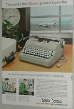 1957 Smith Corona Typewriter advertisement, CAPITAL AIRLINES Vickers Viscount
