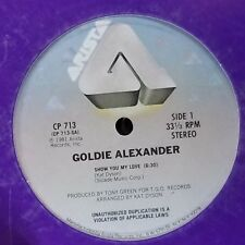 """SEALED! 12"""" Single GOLDIE ALEXANDER 'Show You My Love' ~ 'Go Back' 1981 ARISTA"""