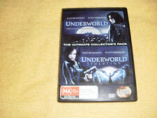 UNDERWORLD 1 + 2 EVOLUTION = 2 DVD as NEW Kate Beckinsale vampires werewolves R4