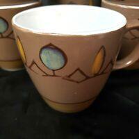 Casual Ceram Mid Century Stoneware Dinnerware Ballet Pattern Japan Coffee Cups