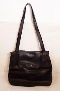 PICARD Damen Tasche EDEL Bag Büffel Leder ECHT Schultertasche Schwarz Shopper 1A