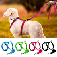 Reflective Dog Harness and Leash Quick Fit Pet Strap Vest for Small Large Dogs
