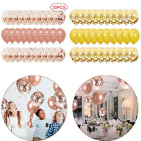 30Pcs Wedding Supply Rose Gold Balloon Confetti Foil Birthday Party Decoration