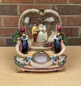 "Disney Cinderella Wedding ""So This Is Love"" Snow Globe Music Box Photo Frame"