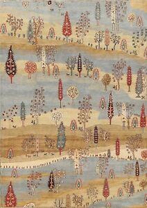 Tribal Geometric Super Kazak Oriental Area Rug Vegetable Dye Hand-knotted 6'x8'