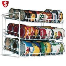 Can Food Storage Kitchen Rack Organizer Cabinet Shelf Holder Canned Pantry Goods
