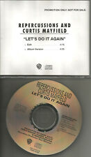 CURTIS MAYFIELD & REPERCUSSIONS Let's Do it Again RARE EDIT PROMO DJ CD single