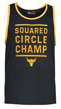 UNDER ARMOUR WWE UA X PROJECT ROCK SQUARED CIRCLE CHAMP MEN'S TANK TOP SHIRT NWT
