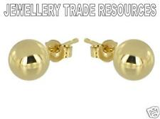 18ct Yellow Gold 4mm Small Plain Ball Studs Earrings Gift Bag