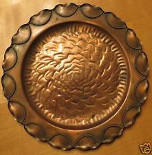 "Gregorian Copper Ware 14"" Plate Platter Charger Wall Hanger"