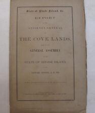 1868 Rhode Island Cove Lands Report Weybosset Mooshassuck Tides Lands Providence