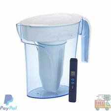 ZeroWater ZP-006-4, 6 Cup Water Filter Pitcher with Water Quality Meter White