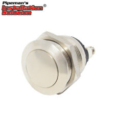Universal Metal Push Button Momentary Switch 12V DC Car/Boat/Hobby (Silver) 19mm