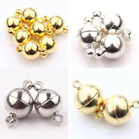 Hot 5/10 Sets Silver/Gold Plated Round Ball Magnetic Clasps For Jewelry