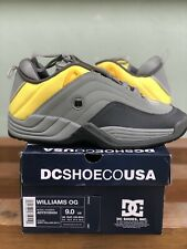 Dc Stevie Williams OG Reissue Grey/Yellow Skate Shoe ADYS100454 Size 9