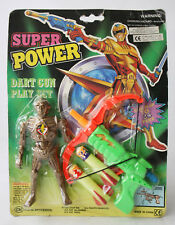 RARE VINTAGE 1993 SUPER POWER SPACE DART GUN + ROBOT CHAP MEI NEW SEALED !