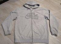 NICE VTG Silver Tag Nike Air Full-Zip Grey Hoodie Hooded Sweatshirt Men's Large