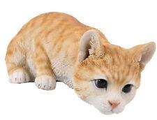 Orange Tabby Cat looking over - Life Like Figurine Statue Home / Garden New