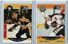 1990-91 NHL Pro Set Mario Lemieux #236 #362 AS Pittsburgh Penguins
