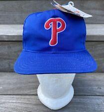 Vintage Philadelphia Phillies American Needle Classic Blue Snapback Hat Cap 90s
